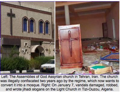 Kościoły w krajach islamu bombardowane, palone, bezczeszczone, a chrześcijanie poniżani i prześladowani