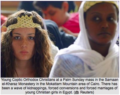 Seria porwań chrześcijanek w Egipcie