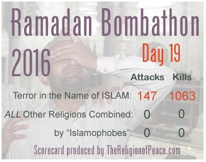 1063 ofiary ramadanu dowodzą pokojowości islamu