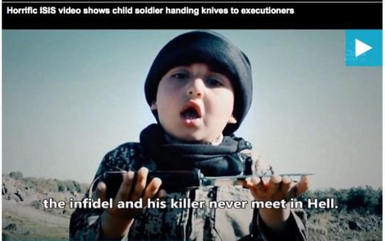 Sześcioletni chłopczyk ścina niewiernych dla Allaha