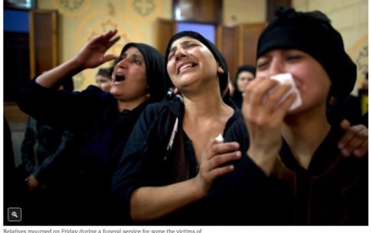 Znak pokoju muzułmańskiego - zabito 28 pielgrzymów koptyjskich