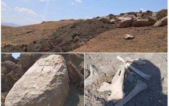 Buldożery zniszczyły ormiański cmentarz