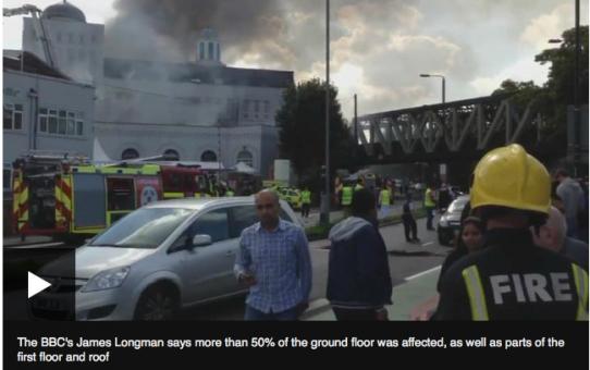 Pożar wielkiego meczetu w Londynie - módlmy się za muzułmanów!!!