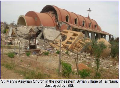 Lista kościołów w Syrii, zniszczonych przez Państwo Islamskie