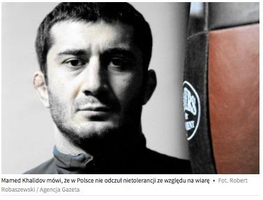 Mamed Khalidov: Islam to religia pokoju. Nie ma w niej takiego pojęcia jak bicie żony