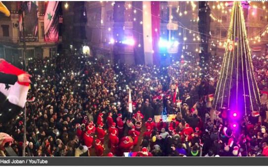 """Aleppo: choinka bożonarodzeniowa, wybuch i ewakuacja """"opozycji"""""""