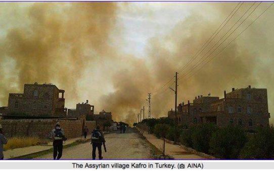Pożary w chrześcijańskich miejscowościach w Turcji